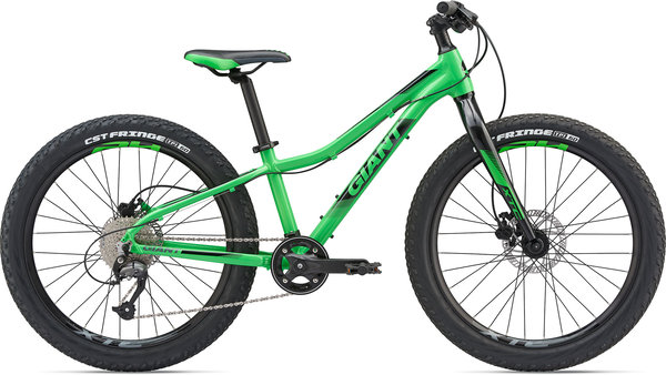 Giant XTC Jr 24+ Color: Flash Green/Black/Charcoal