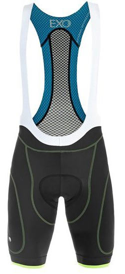 Giordana EXO Bib Shorts Color: Black/Fluo