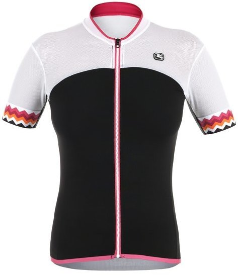 Giordana Lungo Short Sleeve Jersey Color: Black/White