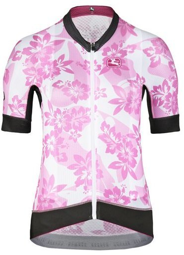 Giordana Moda FR-C Pro Short Sleeve Jersey Color: Aloha -Pink/White/Black