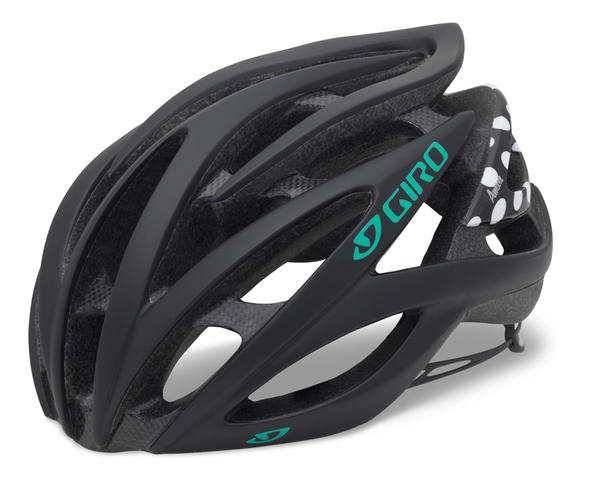 Giro Amare Color: Matte Black/Dynasty Green Polka Dot