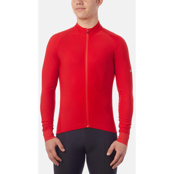 Giro Chrono LS Thermal Jersey Color: Bright Red