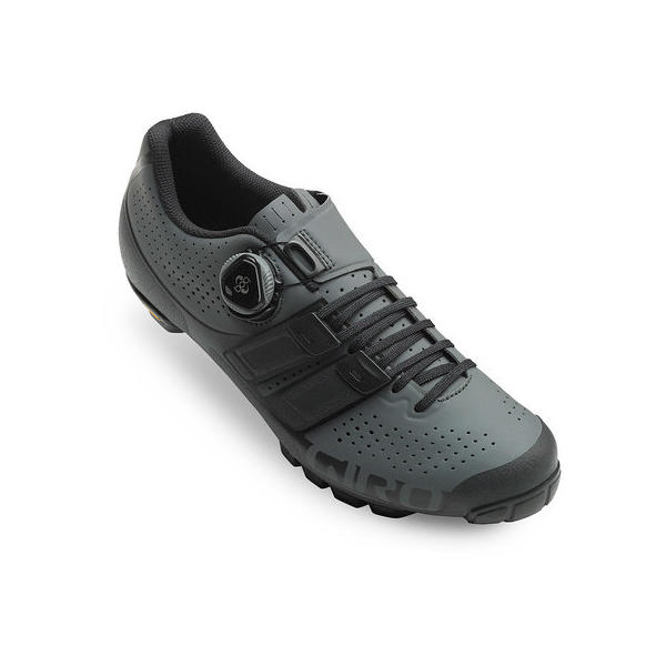 Giro Code Techlace Color: Dark Shadow/Black
