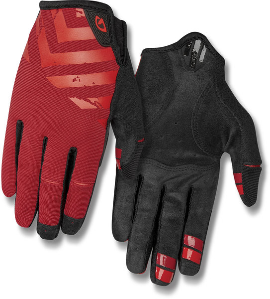Giro DND Gloves Color: Dark Red/Bright Red