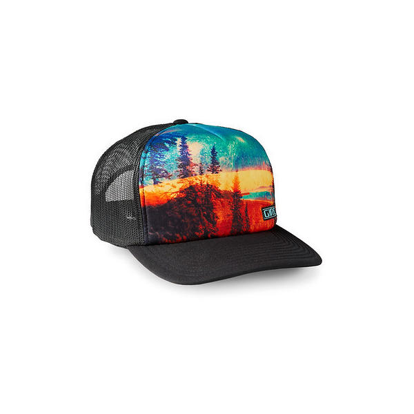 Giro Foam Trucker Cap Color: Black Mountain Sea