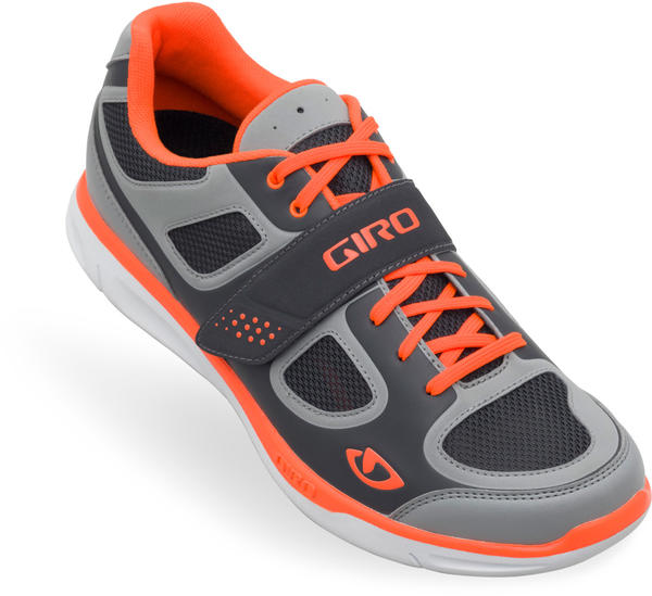 Giro Grynd Shoes Color: Silver/Florescent Orange
