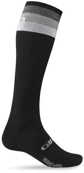 Giro Merino Wool Hightower Color: Black/Grey Stripe