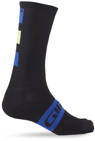 Giro Merino Seasonal Wool Socks Color: Black/Blue/Lime