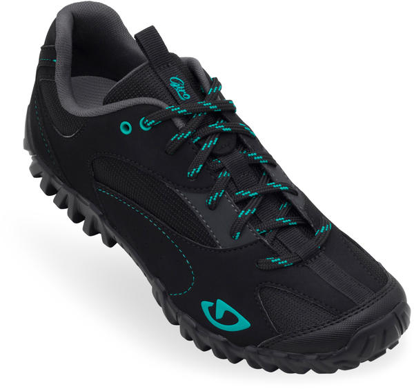 Giro Petra Shoes - Women's Color: Black/Dynasty Green