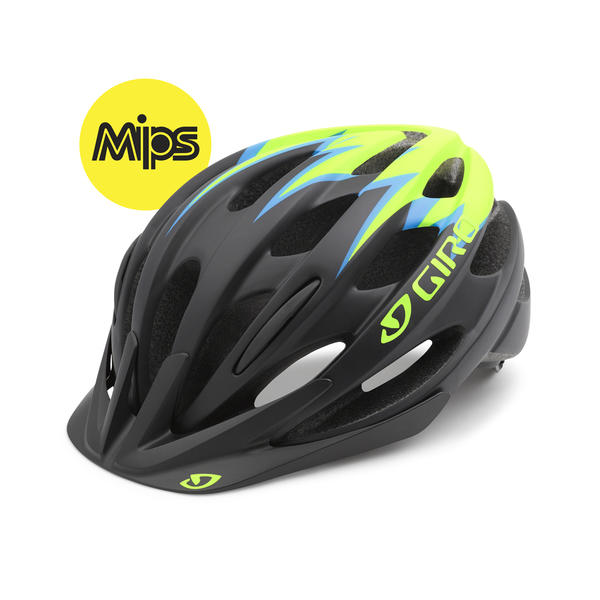 Giro Raze MIPS Color: Matte Black/Lime/Blue