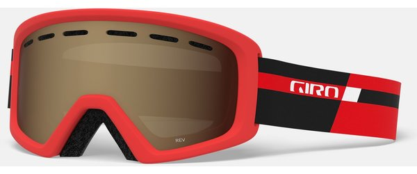 Giro Rev Youth Color | Lens: Black Red Podium | Amber Rose
