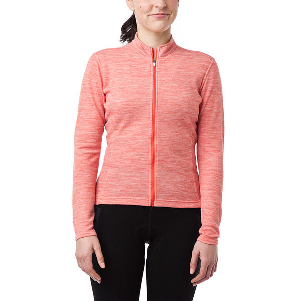 Giro Long-Sleeve Ride Jersey - Women's Color: Glowing Red Heather