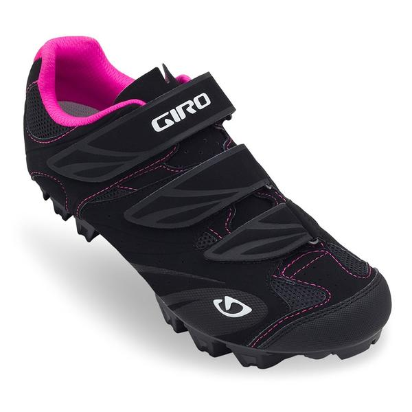 Giro Riela Shoes Color: Black/Rhodamine Red