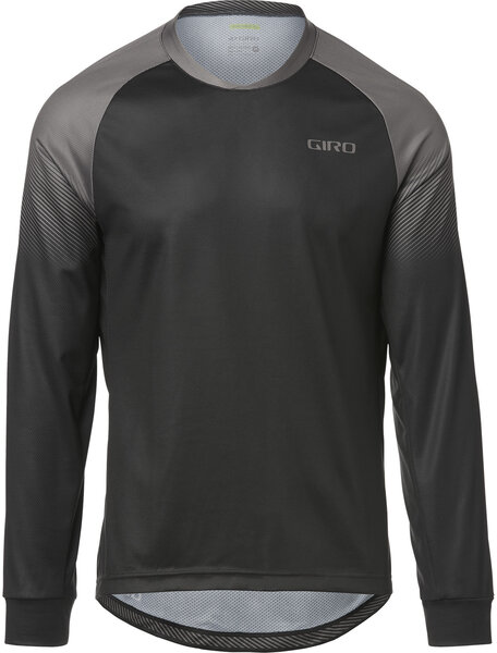 Giro Men's Roust LS Jersey Color: Black/Charcoal Transition