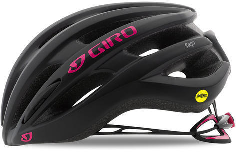 Giro Saga MIPS Color: Matte Black/Bright Pink