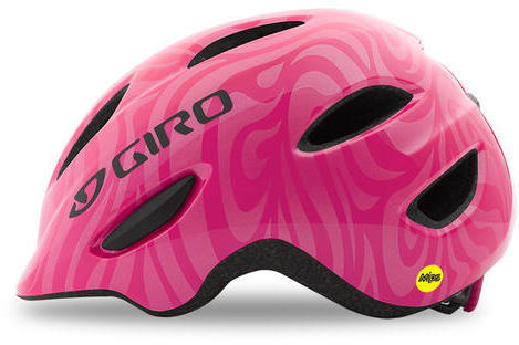 Giro Scamp MIPS Color: Bright Pink Swirl