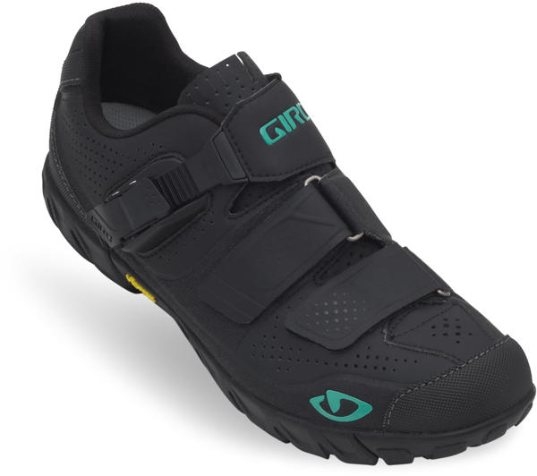 Giro Terradura Shoes Color: Black/Dynasty Green