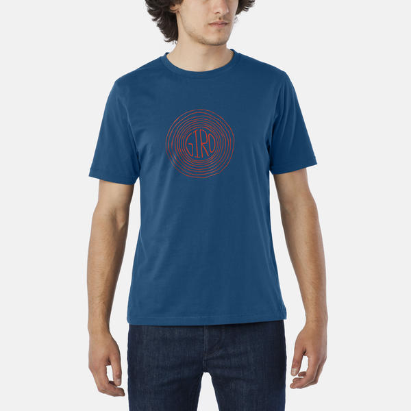Giro Transfer Tee Color: Indigo Redwood