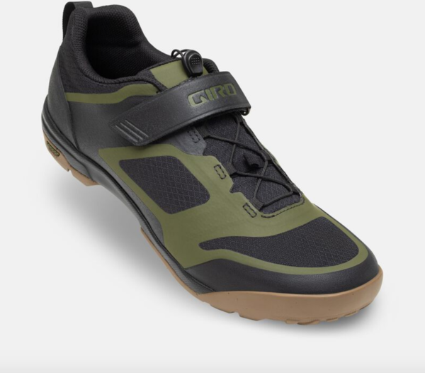 Giro Ventana Fastlace Shoe Color: Black/Olive