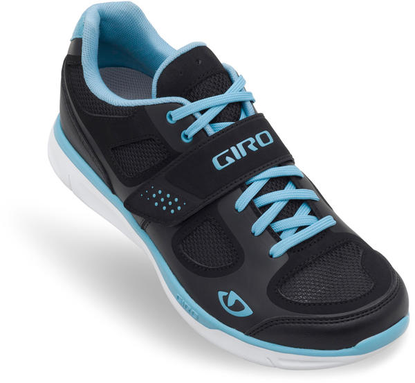 Giro Whynd Shoes Color: Black/White/Milky Blue