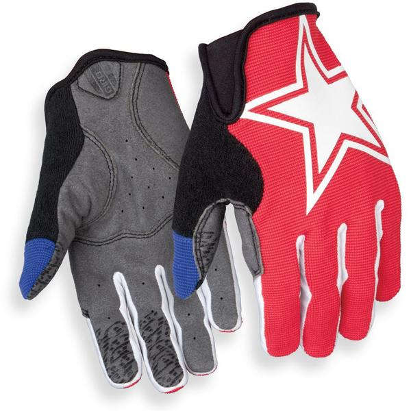 Giro DND Jr. Gloves Color: Red/Blue Star