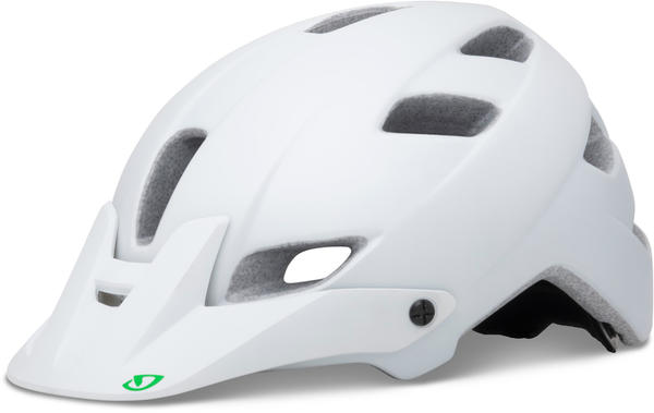 Giro Feather Color: Matte White/Kelly Green