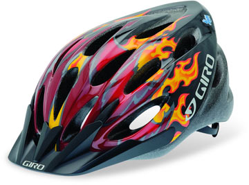 Giro Flume Color: Red/Black Dragon Flames