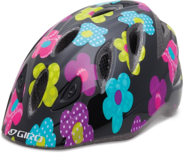 Giro Rascal Color: Black/Hot Pink Fab Flowers