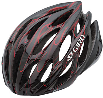 Giro Saros Color: Black/Red Flames