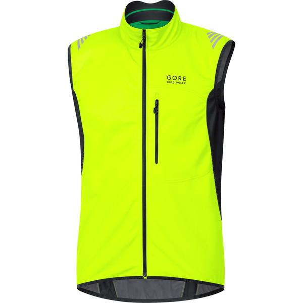 Gore Wear Element Windstopper Soft Shell Vest Color: Neon Yellow