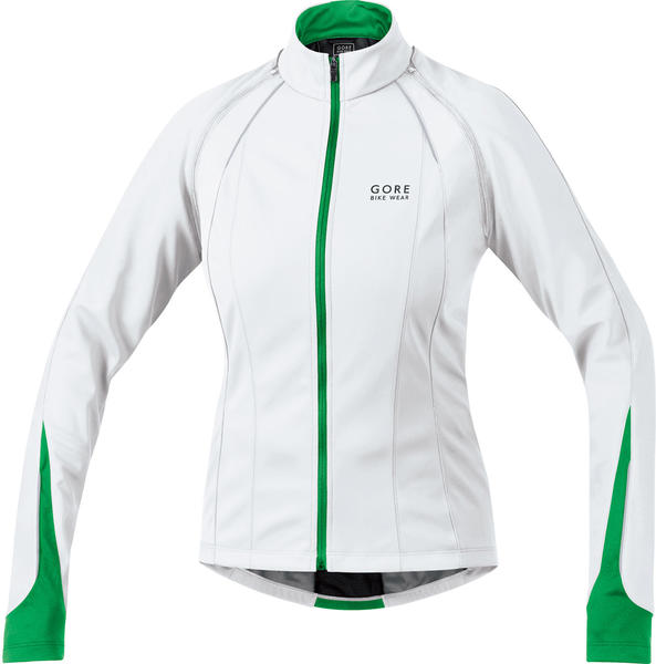 Gore Wear Phantom 2.0 Soft Shell Lady Jacket Color: White/Fresh Green