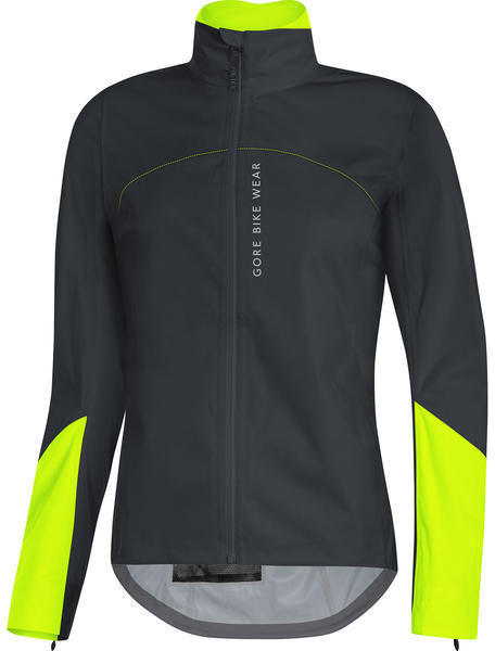 Gore Wear POWER LADY GORE-TEX Jacket Color: Black/Neon Yellow