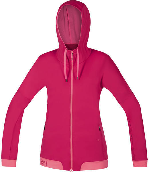 Gore Wear Power Trail Lady WS SO Hoody Color: Jazzy Pink/Giro Pink