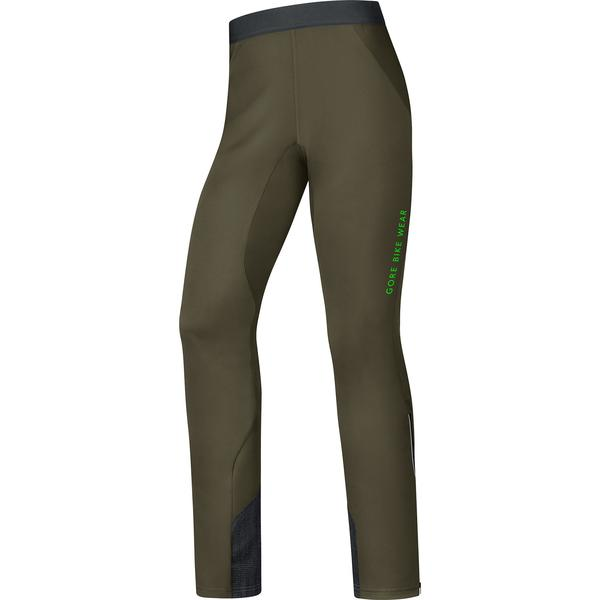 Gore Wear Power Trail Windstopper Soft Shell Pants Color: Olive