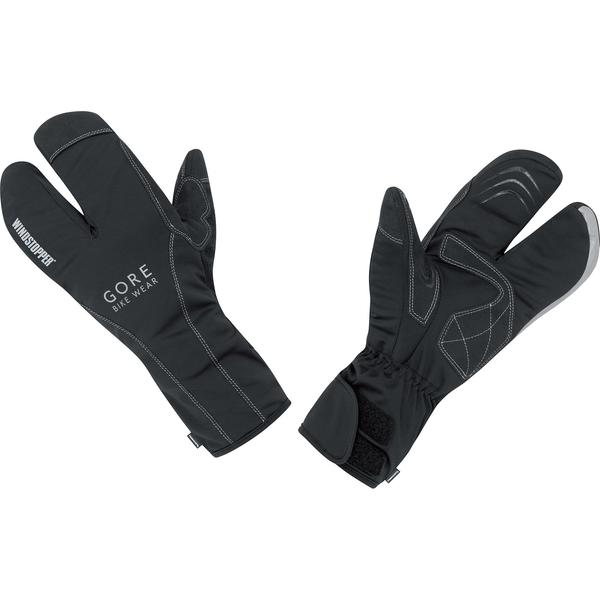 Gore Wear Road Windstopper Soft Shell Thermo Split Gloves Color: Black