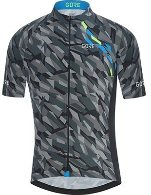 Gore Wear C3 Camo Jersey Color: Black/Dynamic Cyan