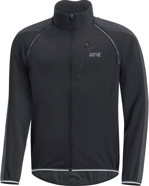 Gore Wear C3 GORE WINDSTOPPER PHANTOM Zip-Off Jacket Color: Black/Terra Grey