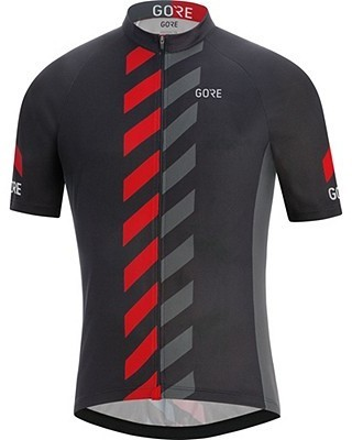 Gore Wear C3 Vertical Jersey Color: Black/Red