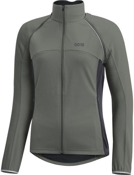 Gore Wear C3 Women GORE WINDSTOPPER PHANTOM Zip-Off Jacket Color: Castor Grey/Terra Grey