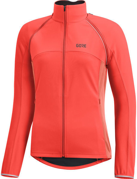 Gore Wear C3 Women GORE WINDSTOPPER PHANTOM Zip-Off Jacket Color: Lumi Orange/Coral Glow
