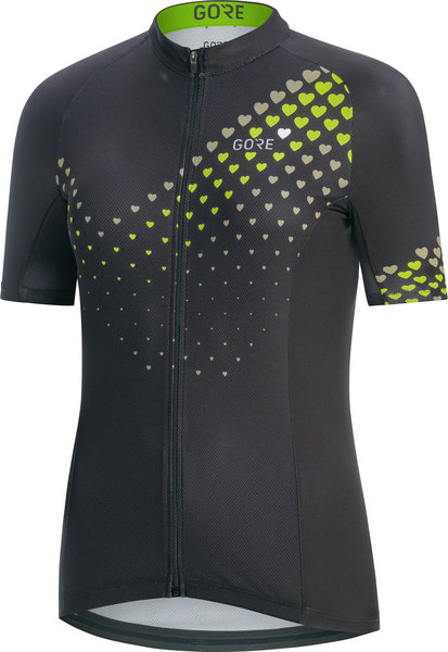 Gore Wear C3 Women Heart Jersey Color: Black/Citrus Green