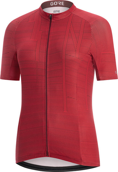 Gore Wear C3 Women Line Jersey Color: Hibiscus Pink/Chestnut Red