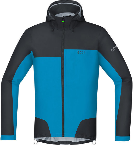 Gore Wear C5 GORE-TEX Active Trail Hooded Jacket Color: Black/Dynamic Cyan