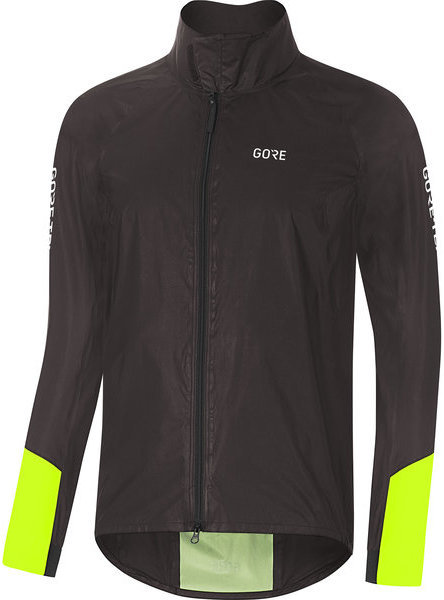 Gore Wear C5 GORE-TEX SHAKEDRY 1985 Viz Jacket Color: Black/Neon Yellow