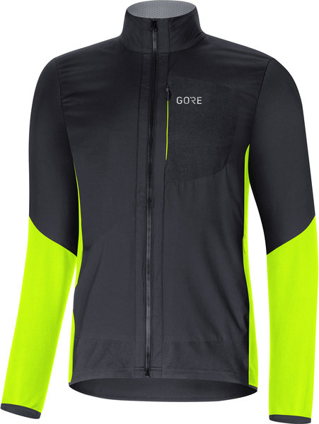 Gore Wear C5 GORE WINDSTOPPER Insulated Jacket Color: Black/Neon Yellow