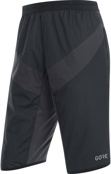 Gore Wear C5 GORE WINDSTOPPER Insulated Shorts Color: Black/Terra Grey