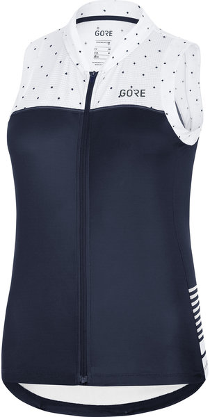 Gore Wear C5 Women Sleeveless Jersey Color: Orbit Blue/White
