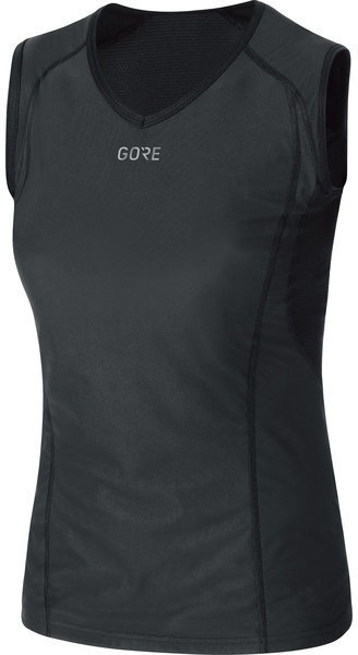 Gore Wear M Women GORE WINDSTOPPER Base Layer Sleeveless Shirt Color: Black
