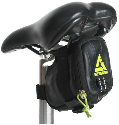 Green Guru Clutch Saddle Bag Color: Black