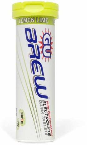 GU Brew Electrolyte Tablets Flavor | Size: Lemon Lime | Single Tube
